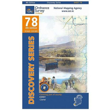 Ireland Map Ordnance Survey OS 78: Kerry