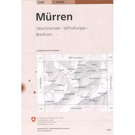 Switzerland Map 1248 Murren