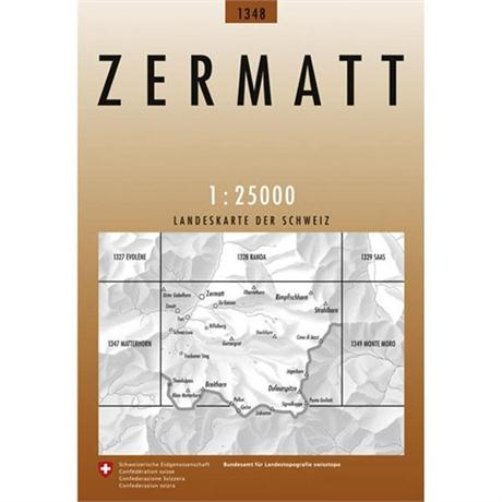 Switzerland Map 1348 Zermatt