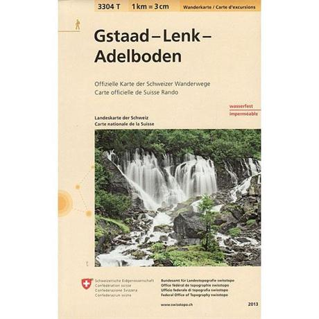 Switzerland Map 3304T Gstaad - Lenk - Adelboden
