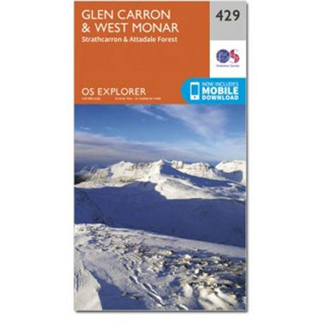 OS Explorer Map OL429 Glen Carron and West Monar