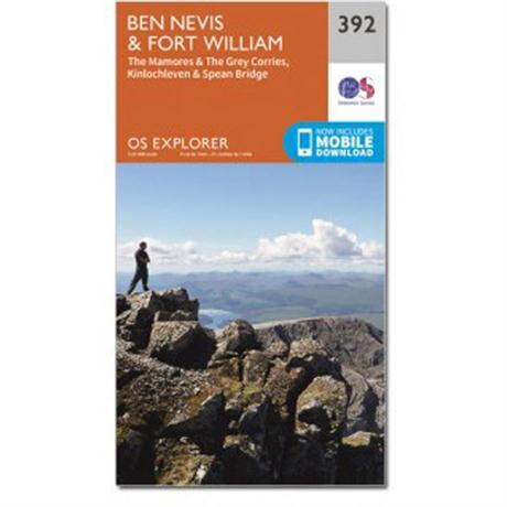 OS Explorer Map 392 Ben Nevis and Fort William