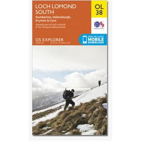 OS Explorer Map OL38 Loch Lomond South