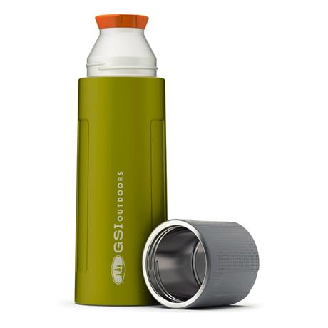 GSI Outdoors Glacier Stainless Flask 1L Vacuum Bottle Green