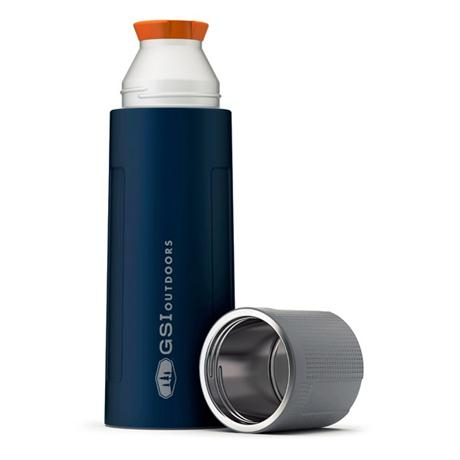 GSI Outdoors Glacier Stainless Flask 1L Vacuum Bottle Blue