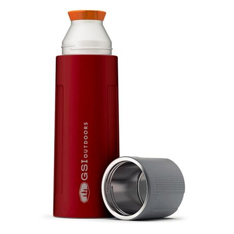 GSI Outdoors Glacier Stainless Flask 1L Vacuum Bottle Red