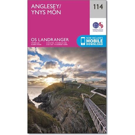 OS Landranger ACTIVE Map 114 Anglesey / Ynys Mon