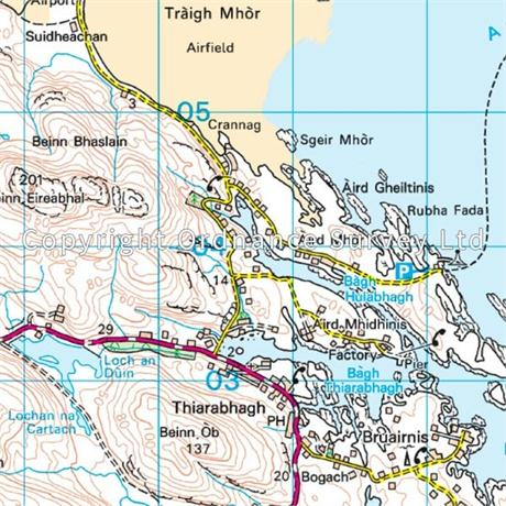 OS Landranger ACTIVE Map 31 Barra & South Uist, Vatersay & Eriskay