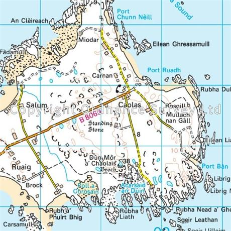 OS Landranger ACTIVE Map 46 Coll & Tiree