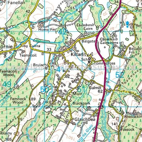 OS Landranger Map 26 Inverness & Loch Ness, Strathglass