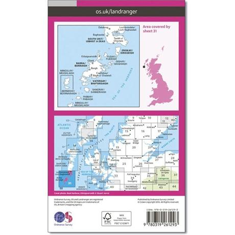 OS Landranger Map 31 Barra & South Uist, Vatersay & Eriskay