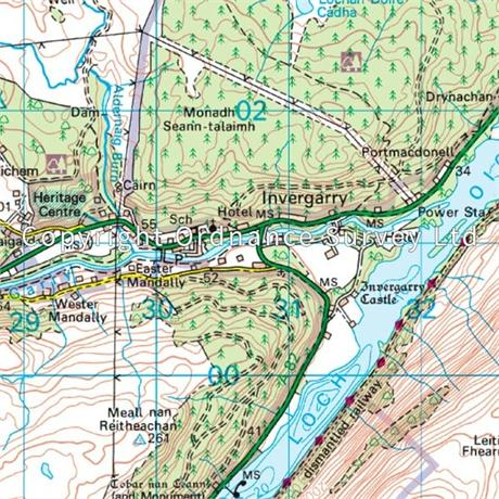 OS Landranger Map 34 Fort Augustus, Glen Roy & Glen Moriston
