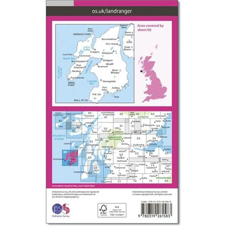 OS Landranger Map 60 Islay