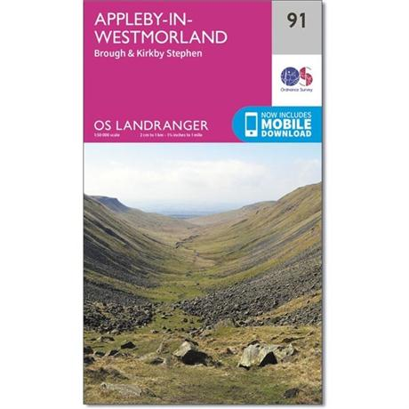 OS Landranger Map 91 Appleby-in-Westmorland