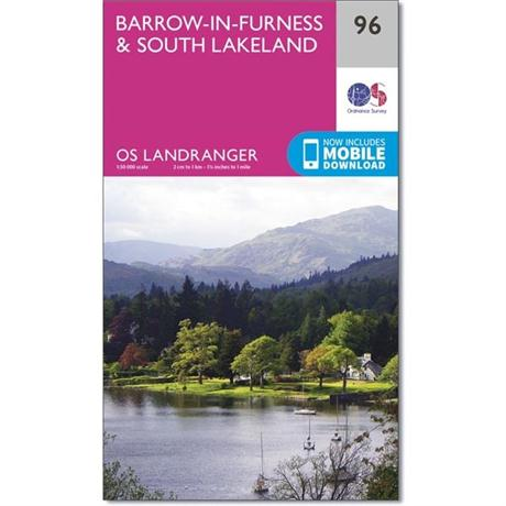 OS Landranger Map 96 Barrow-in-Furness & South Lakeland