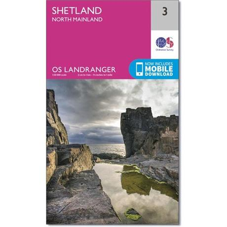 OS Landranger Map 03 Shetland - North Mainland