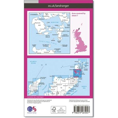 OS Landranger Map 07 Orkney - Southern Isles