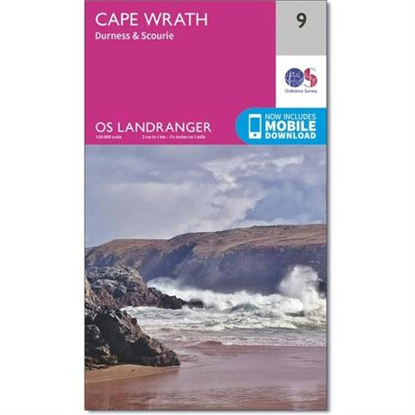 OS Landranger Map - Cape Wrath, Durness & Scourie