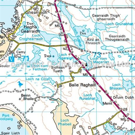 OS Landranger Map 18 Sound of Harris, North Uist, Taransay & St Kilda