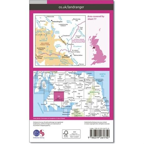 OS Landranger Map 77 Dalmellington & New Galloway, Galloway Forest Park