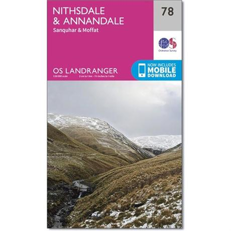 OS Landranger Map 78 Nithsdale & Annandale, Sanquhar & Moffat