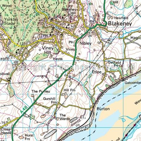 OS Landranger Map 162 Gloucester & Forest of Dean