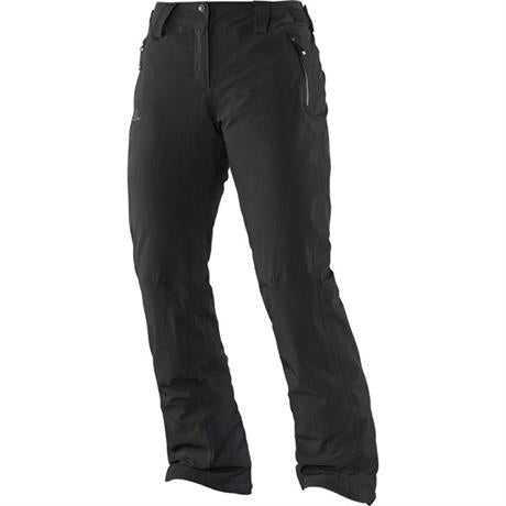 Salomon SKI Pants Women's Iceglory SHORT Leg Trousers Black