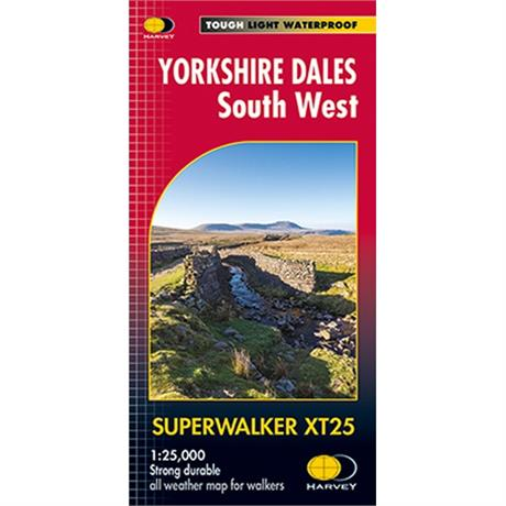 Harvey Map - Superwalker XT25: Yorkshire Dales South West
