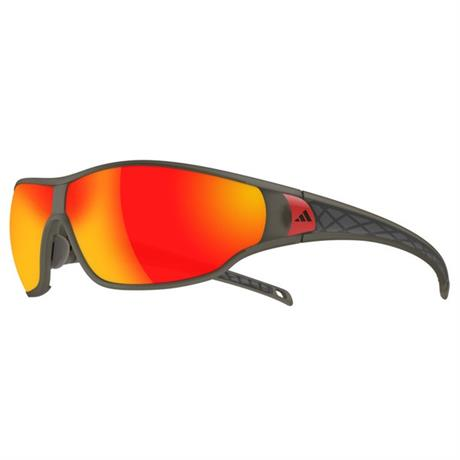 Adidas Eyewear Tycane Sunglasses L Umber Matt Translucent Red Mirror