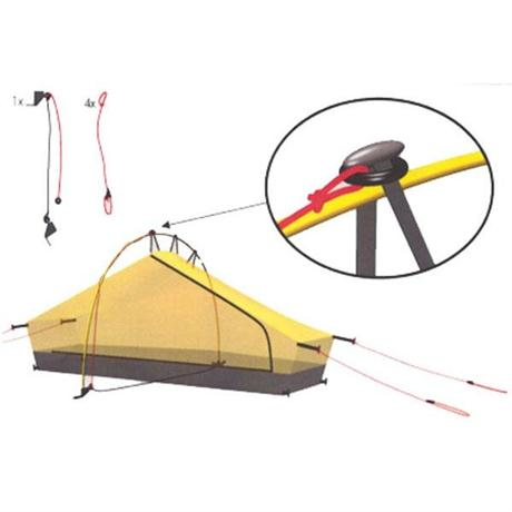 Hilleberg Tent Spare/Accessory Pole Holder Kit for Akto and Enan