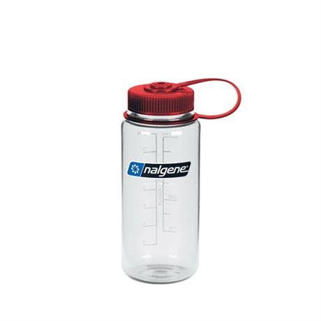 Nalgene Tritan 500ml Wide Mouth Bottle Clear/Red