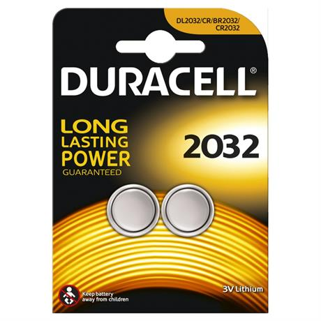Batteries: Duracell Lithium Coin Cell CR2032 Pack of 2