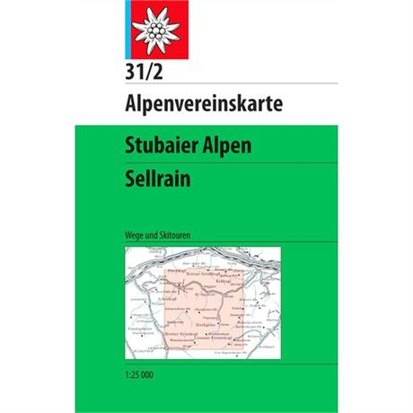 Austria Map Stubai Sellrain 31/2