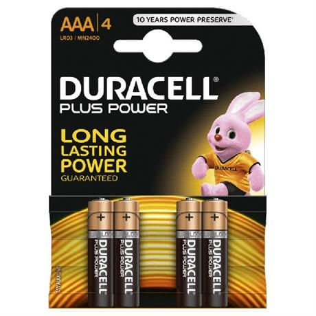 Batteries: Duracell MN2400K4P AAA Cell 4 Pack