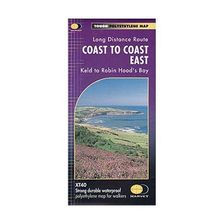 Harvey Map - XT40: Coast to Coast - East (Keld to Robin Hood's Bay)