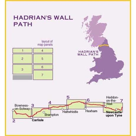 Harvey Map - XT40: Hadrian's Wall Path