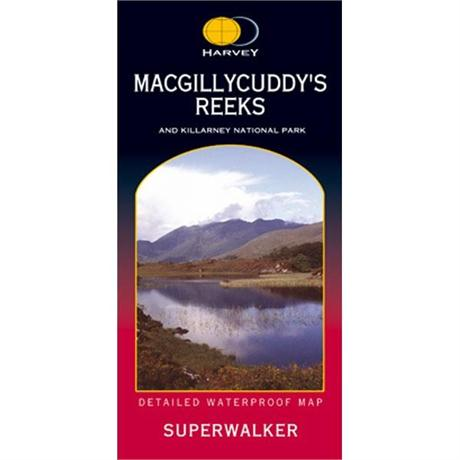 Ireland Map Harvey - Superwalker: MacGillycuddy's Reeks