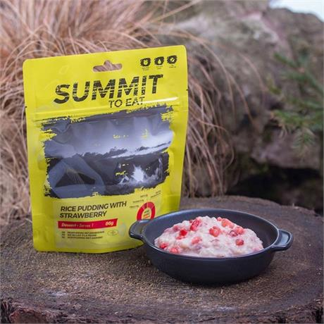 Summit to Eat Camping Meal: Rice Pudding with Strawberry