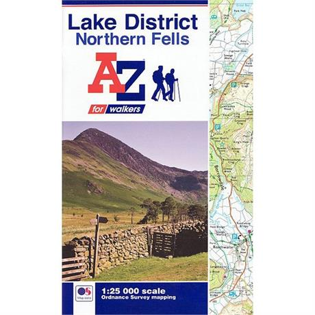 A-Z Adventure Atlas Map - Lake District North