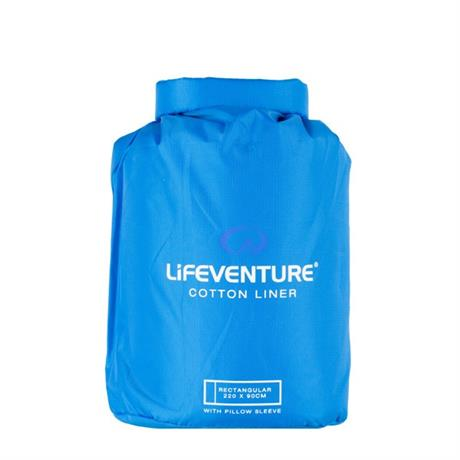 LifeVenture Cotton Sleeping Bag Liner Rectangular
