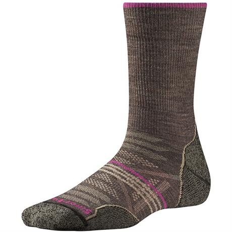 Smartwool HIKING Socks Women's PhD Outdoor Light Crew Taupe