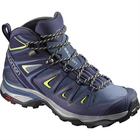 Salomon Boots Women's X Ultra Mid 3 GTX Crown Blue/Lime