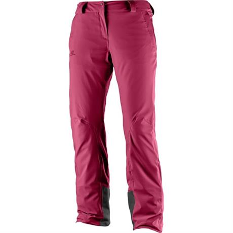 Salomon SKI Pants Women's Icemania REGULAR Leg Trousers Beet Red