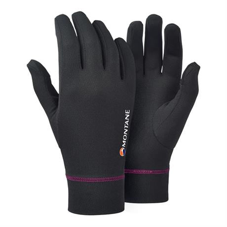 Montane Gloves Women's Power Dry Black/Saskatoon Berry