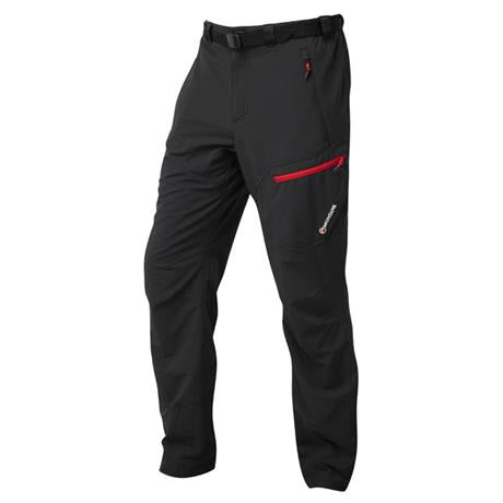 Montane Pants Men's Alpine Trek SHORT Leg Trousers Black/Alpine Red