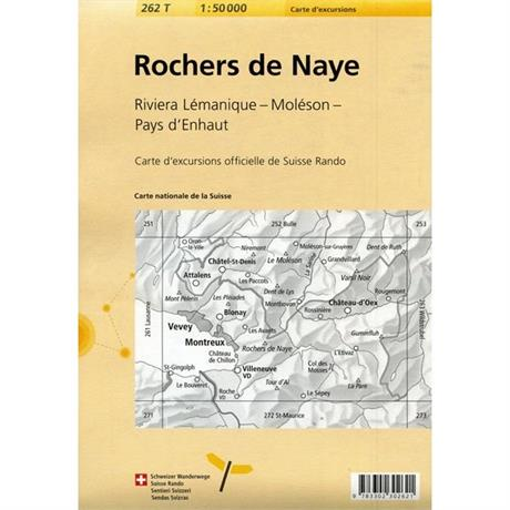 Switzerland Map: Rochers De Naye 262T 1:50k