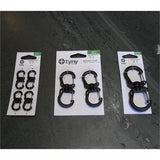 Tyny Tools Swivel Carabiner Clips SMALL Black (Pack of 4)