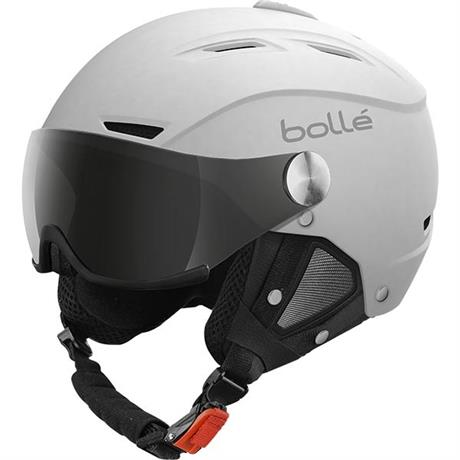 Bolle Ski Helmet Backline Visor Soft White/Silver & Lemon Lenses