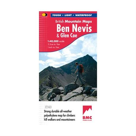 Harvey Map - BMC: Ben Nevis & Glen Coe 1:40000