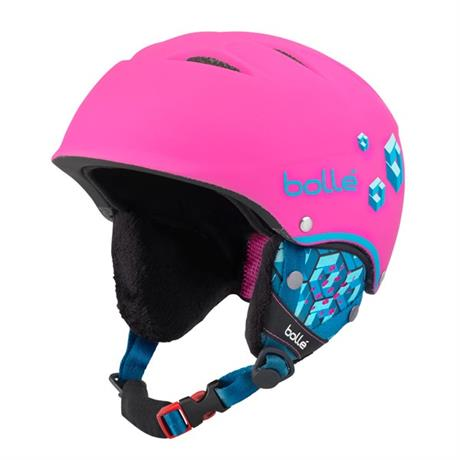 Bolle Ski Helmet Junior B-Free Soft Neon Pink Blocks 49-53cm